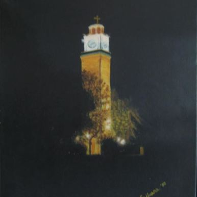 """The Clock Tower, Bitola"" - Oil painting of The Clock Tower located in the center of the Macedonian city Bitola. D: 30x40 cm (SOLD)"