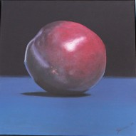 """The Plum"" Realistic oil painting D: 50x50 cm"