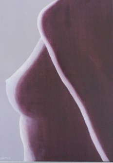 """Silhouette"" Oil painting D: 50x70 cm"