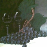 """Grapes"" Acrylic painting (SOLD)"